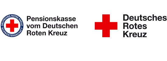 Logo Pensionskasse und Deutsches Rotes Kreuz